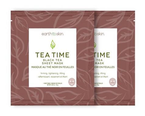 Earth To Skin Tea Time Black Tea Sheet Mask
