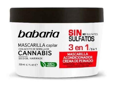 Babaria Mascarilla Capilar 3 En 1 Con Aceite De Semilla De Cannabis