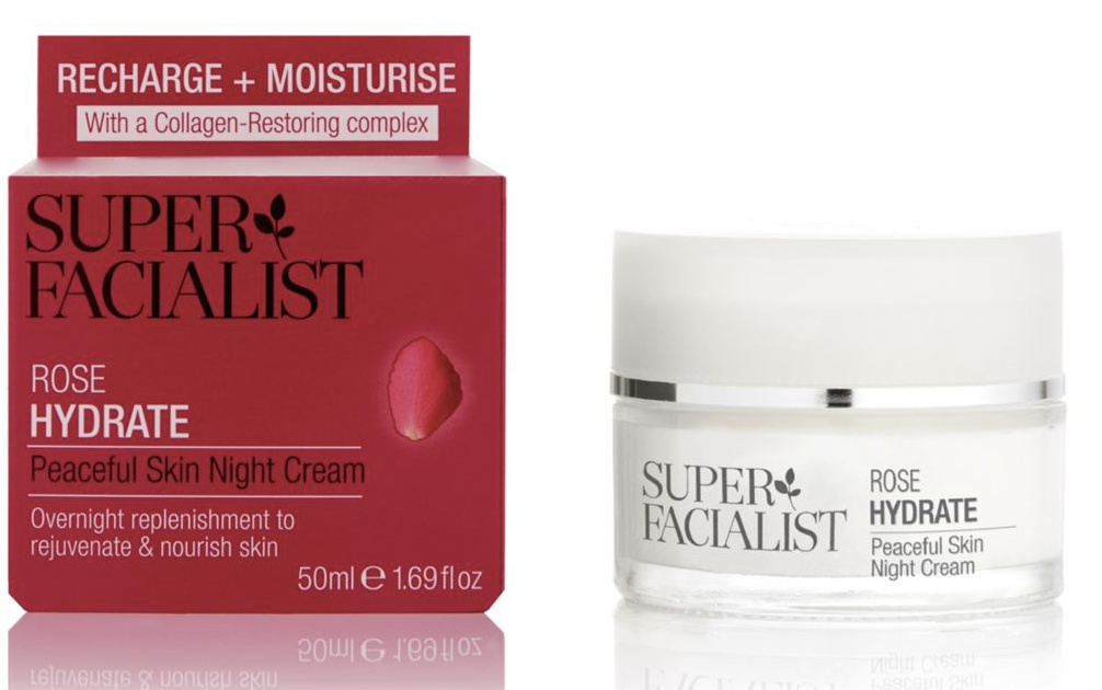 Superfacialist Rose Peaceful Skin Night Cream
