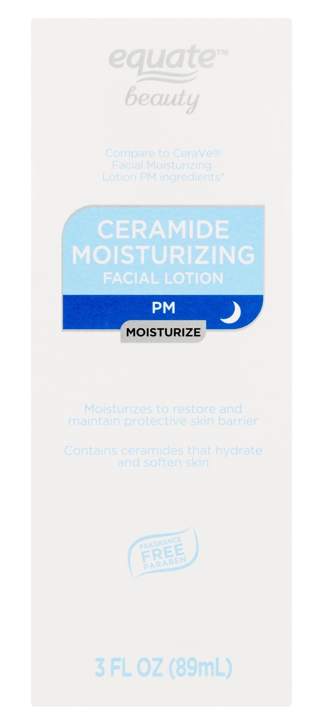 Equate Beauty Ceramide Moisturizing Facial Lotion PM