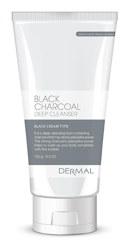 Dermal Black Charcoal Foam Cleanser