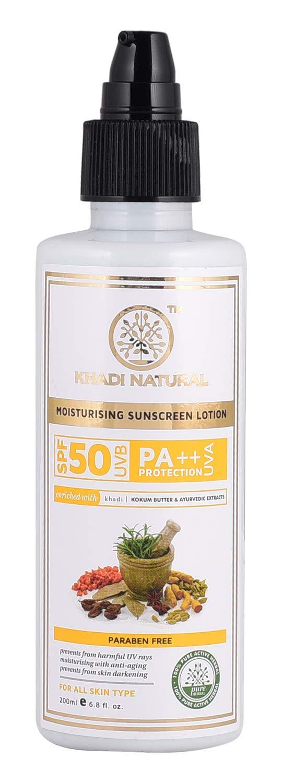 Khadi Natural Natural Sunscreen Moisturising Lotion  SPF 50 Pa++