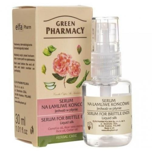 Green Pharmacy Serum Na Łamliwe Końcówki, Jedwab Do Włosów W Płynie/ Serum For Brittle Ends Liquid Silk