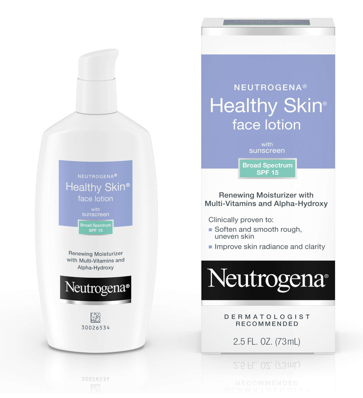Neutrogena Healthy Skin Face Lotion With Sunscreen Broad Spectrum Spf 15