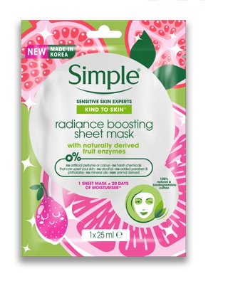 Simple Radiance Boosting Sheet Mask