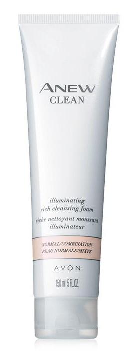 Avon Anew Clean Illuminating Rich Cleansing Foam