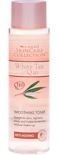 Clicks skincare collection White Tea & Q10 Anti-Ageing Smoothing Toner