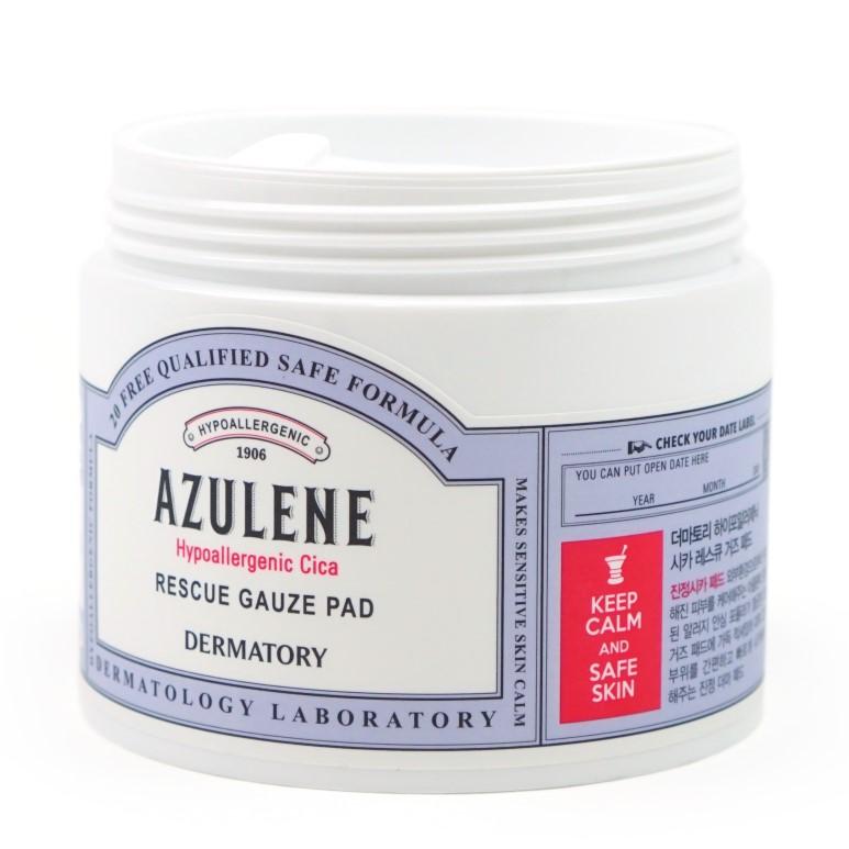 Dermatory Azulene Hypoallergenic Cica Rescue Gauze Pad