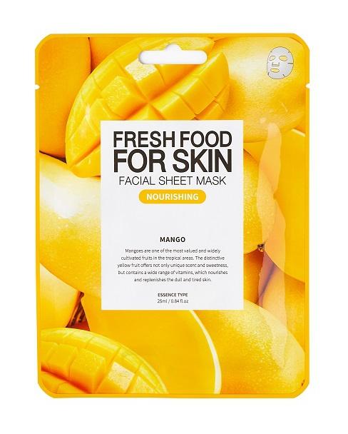 Farm Skin Fresh Food For Skin Facial Sheet Mask Mango: Nourishing