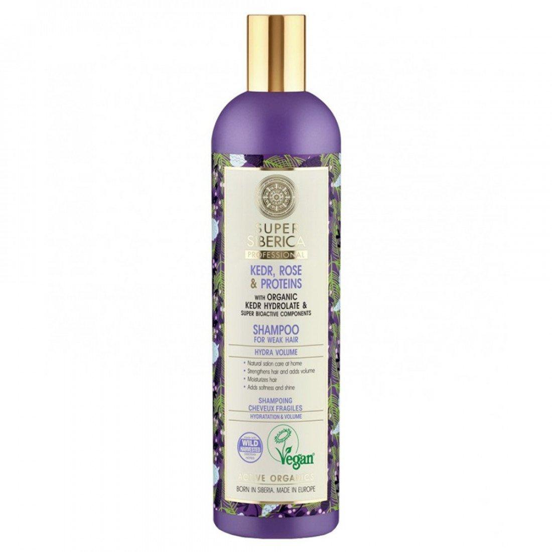 Natura Siberica Super Siberica Kedr, Rose & Proteins Shampoo
