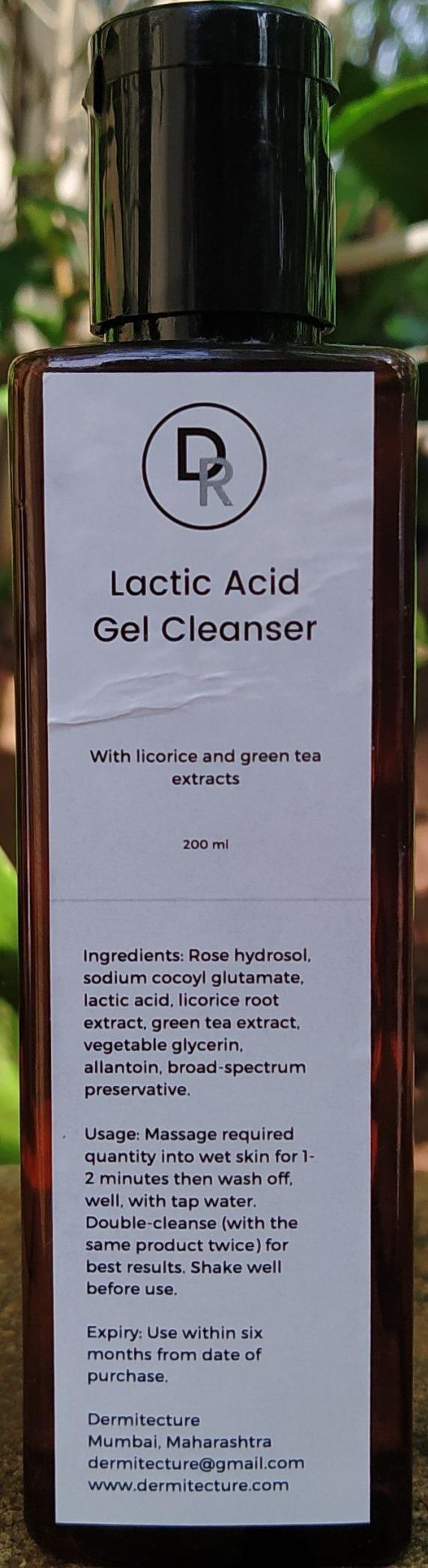 Dermitecture Lactic Acid Gel Cleanser