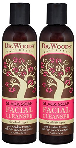 dr woods Black Soap Liquid Facial Cleanser With Organic Shea Butter
