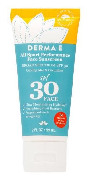 Derma E All Sport Performance Face Sunscreen