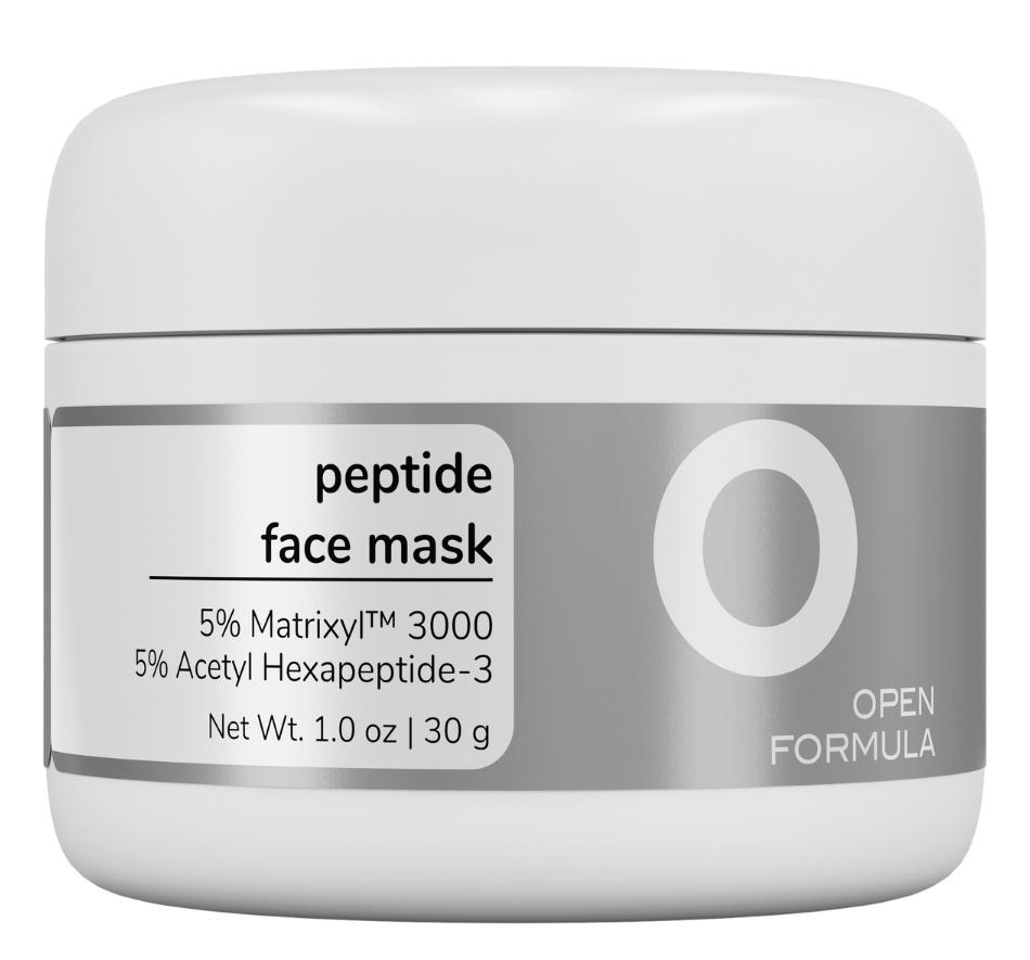 Open Formula Peptide Face Mask (10% Peptides)