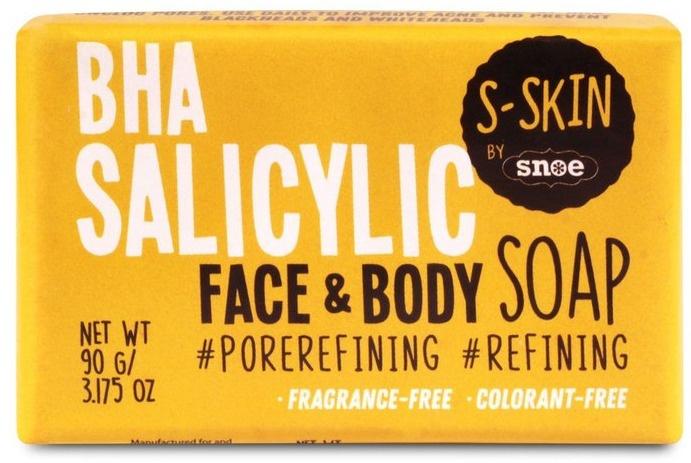 S-SKIN By Snoe BHA Salicylic Face & Body Soap
