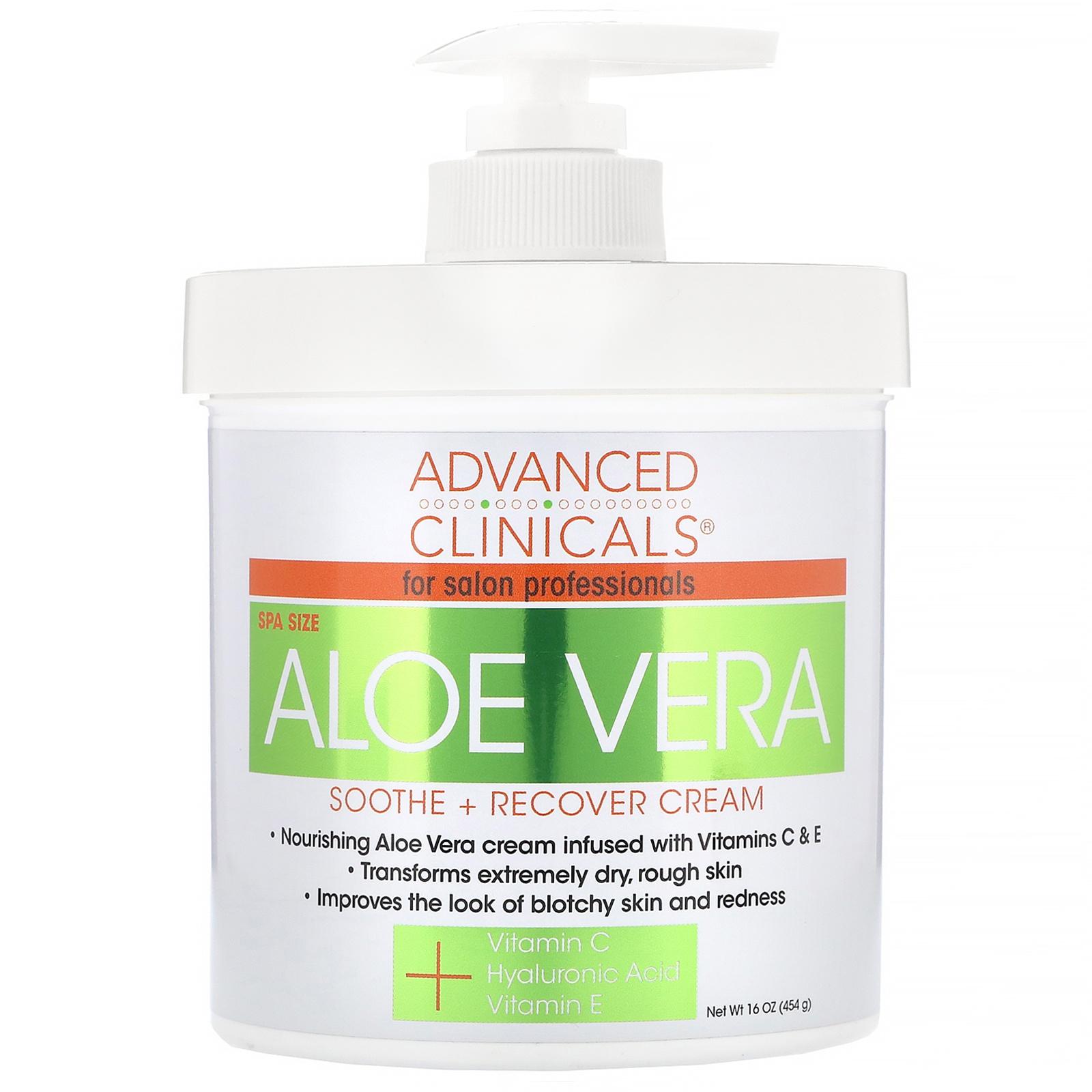 Advanced Clinicals Aloe Vera Shoothe Recovery Cream