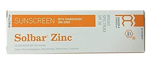 Solbar  Zinc SPF38 Long Lasting Sunscreen