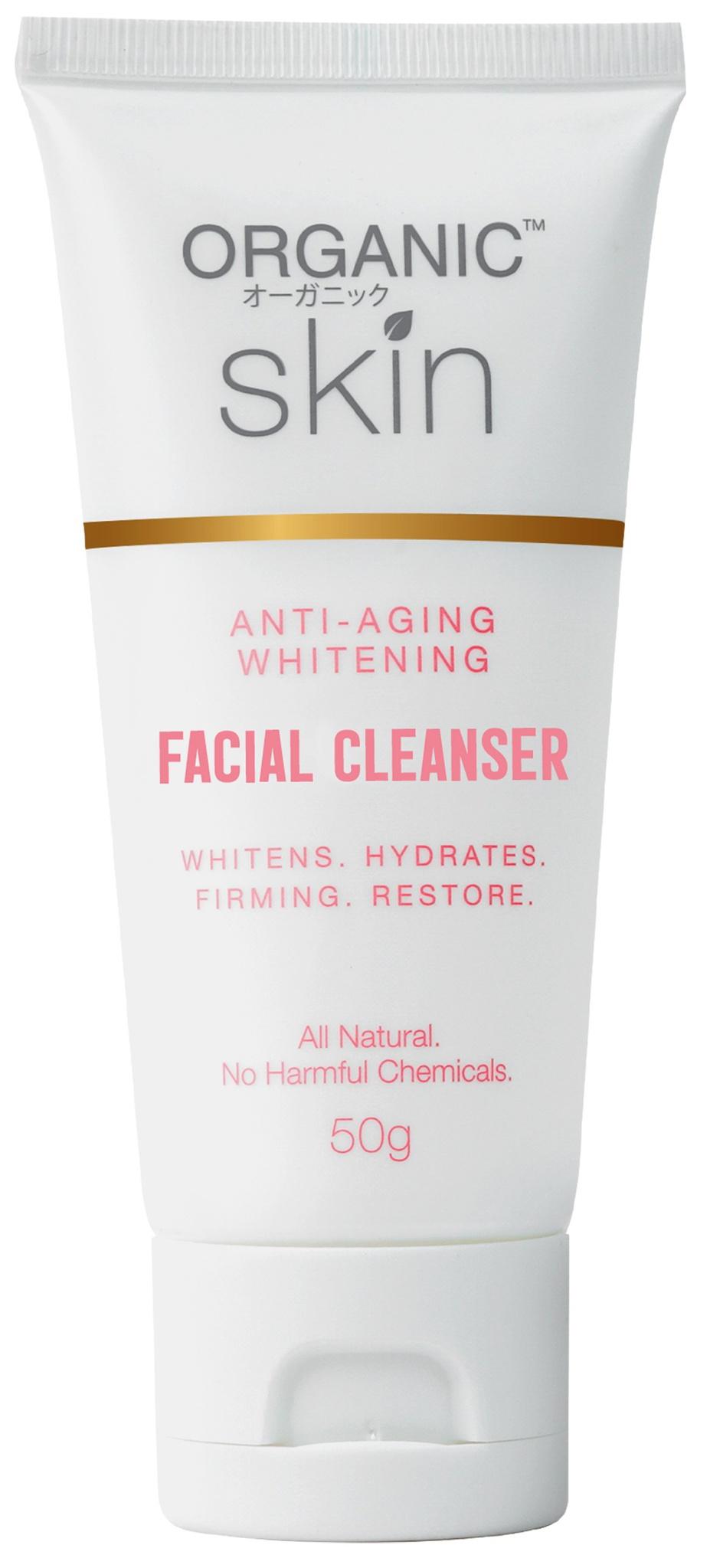 Organic Skin Anti-Aging Whitening Facial Cleanser