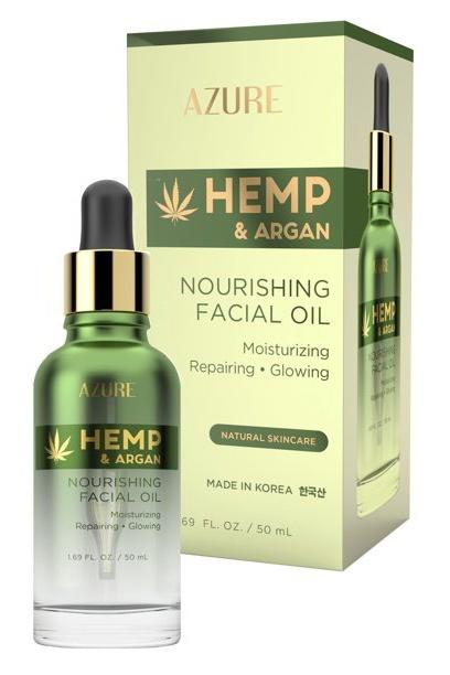 Azure Hemp & Argan Nourishing Facial Oil