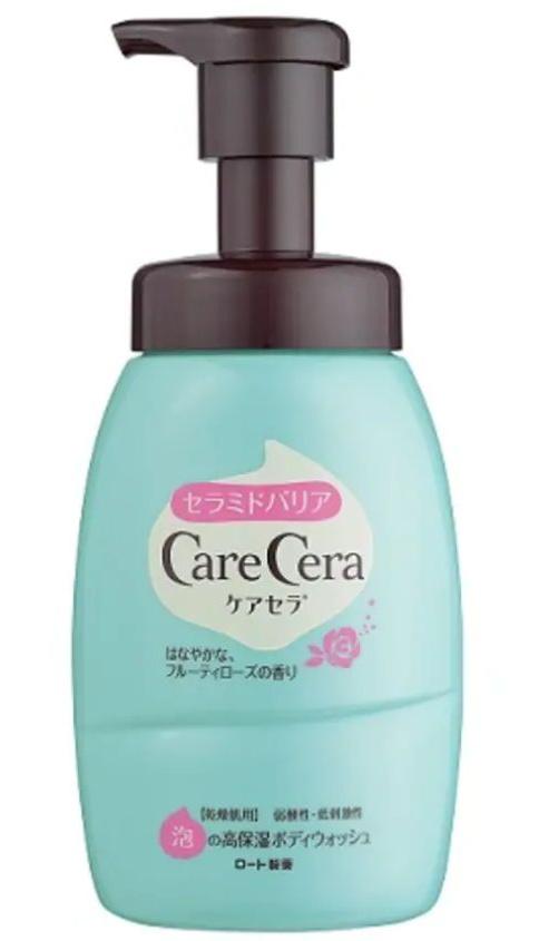 Care Cera Moisturizing Body Foam Wash Fruitty Rose