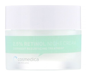 Cosmedica Skincare 2.5% Retinol Night Cream, Overnight Resurfacing Treatment