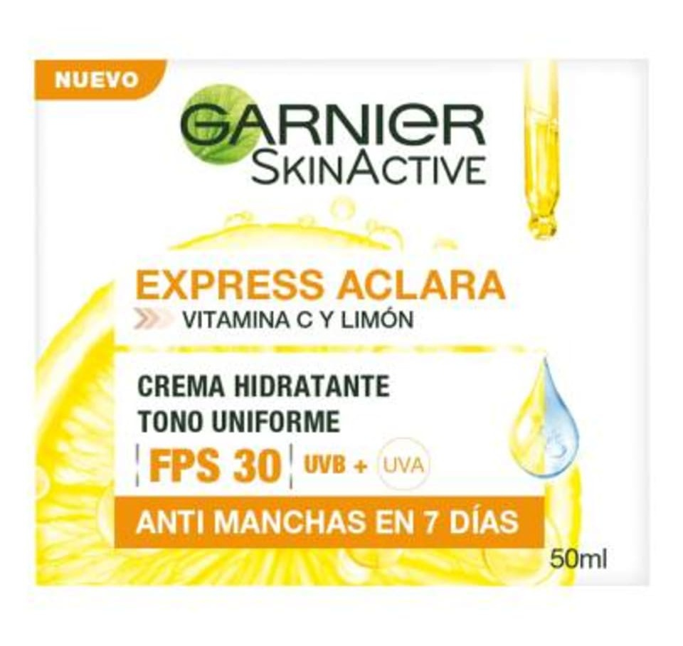 Garnier Skin Active Express Aclara Vitamina C Y Limón