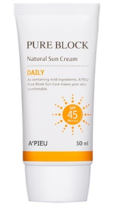A'pieu Pure Block Natural Sun Cream Spf 45 Pa+++