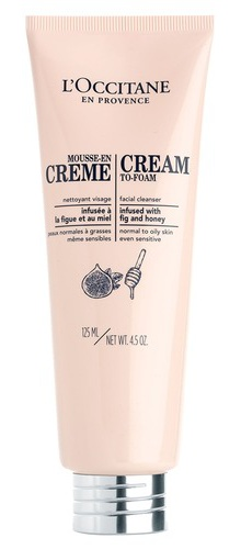 L´Occitane Cream-To-Foam Facial Cleanser With Fig And Honey