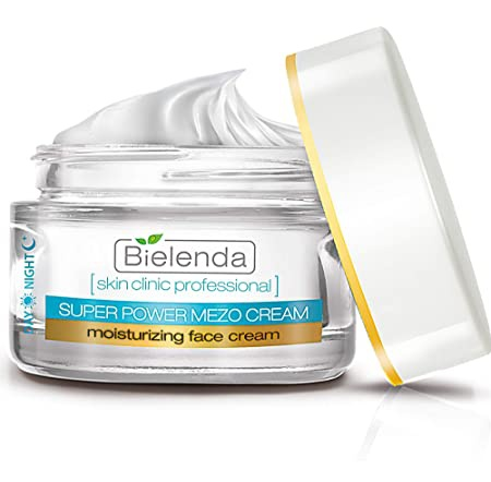 Bielenda Super Power Mezo | Active Moisturising Face Cream With Hyaluronic Acid + Biomimetic Peptides