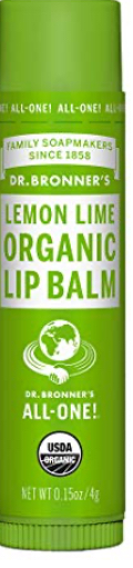 Dr Bronner Organic Lip Balm - Lemon Lime