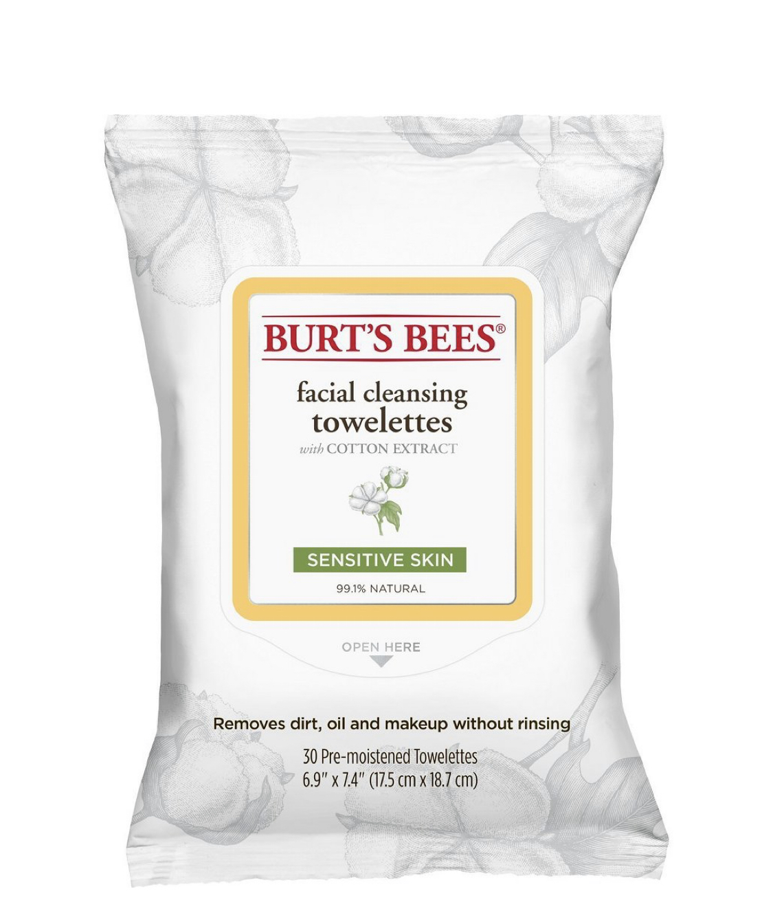 Burt's Bees Cotton Extract Sensitive Facial Cleansing Towlettes