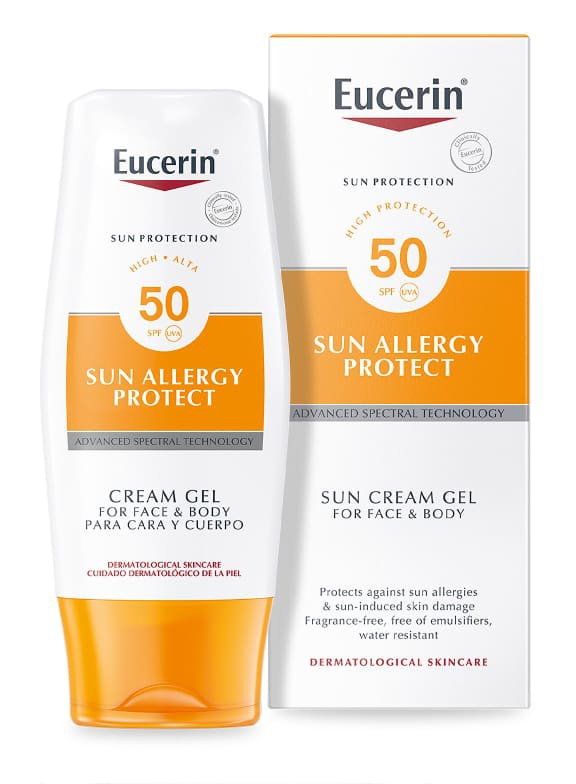 Eucerin Sun Allergy Protect Sun Cream Gel For Face And Body Spf50