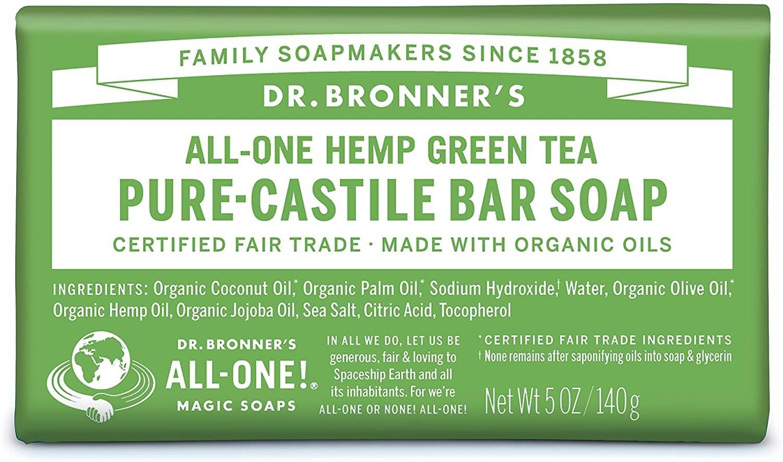 Dr. Bronner's Organic Green Tea Soap Bar