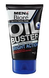 MEN'S BIORE Non Scrub Facial Foam Oil Buster Bright Action