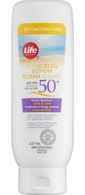 Life Brand Oil Free Sunscreen Lotion Spf 50