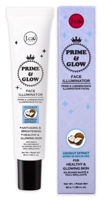 J. Cat Beauty Prime & Glow Face Illuminator - Coconut Extract (Blue)