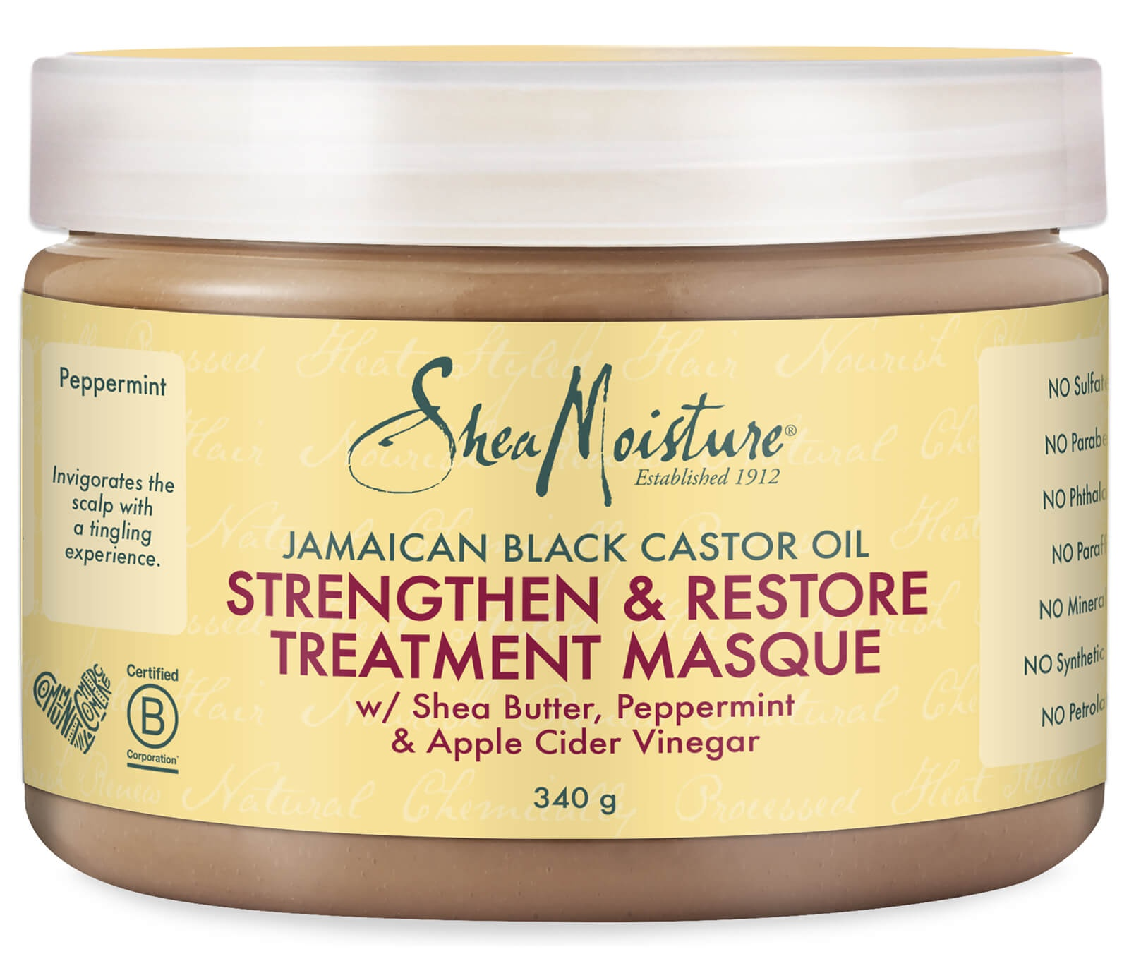 Shea Moisture Jamaican Black Castor Oil - Strengthen And Restore Treatment Masque