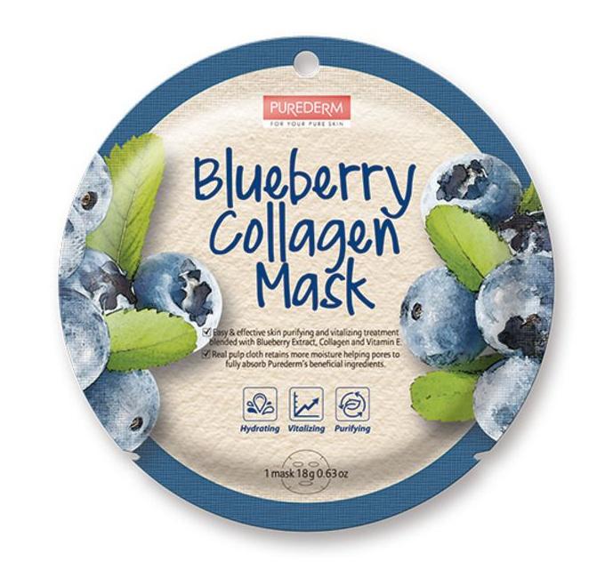 PUREDERM Blueberry Collagen Mask