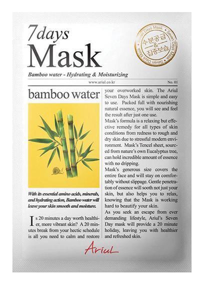 Ariul 7 Days Mask Bamboo Water Hydrating & Moisturizing