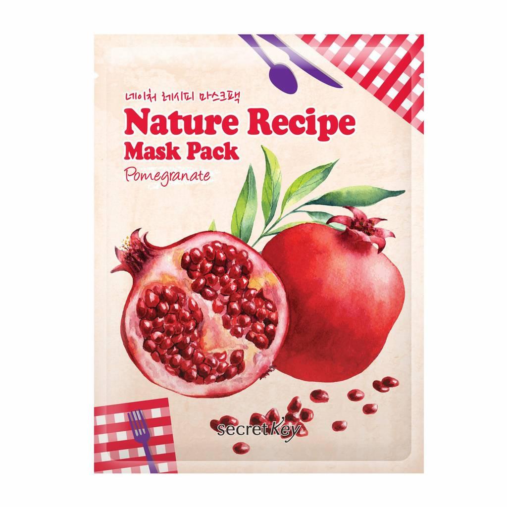 Secret Key Nature Recipe Mask Pack (Pomegranate)