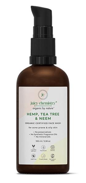 juicy chemistry Hemp, Tea Tree & Neem Organic Face Wash