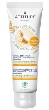 Attitude Sensitive Skin Body Cream Moisturize & Revitalize Argan
