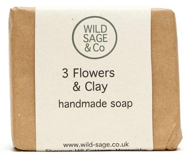 WILD SAGE & CO. Three Flowers + Clay Soap