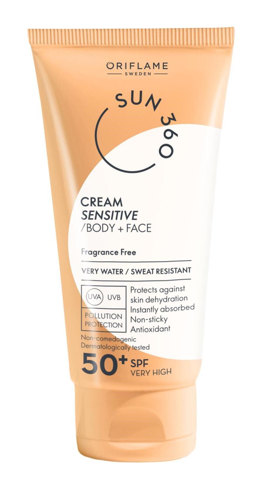 Oriflame Cream Sensitive Body + Face Spf 50+ Very High