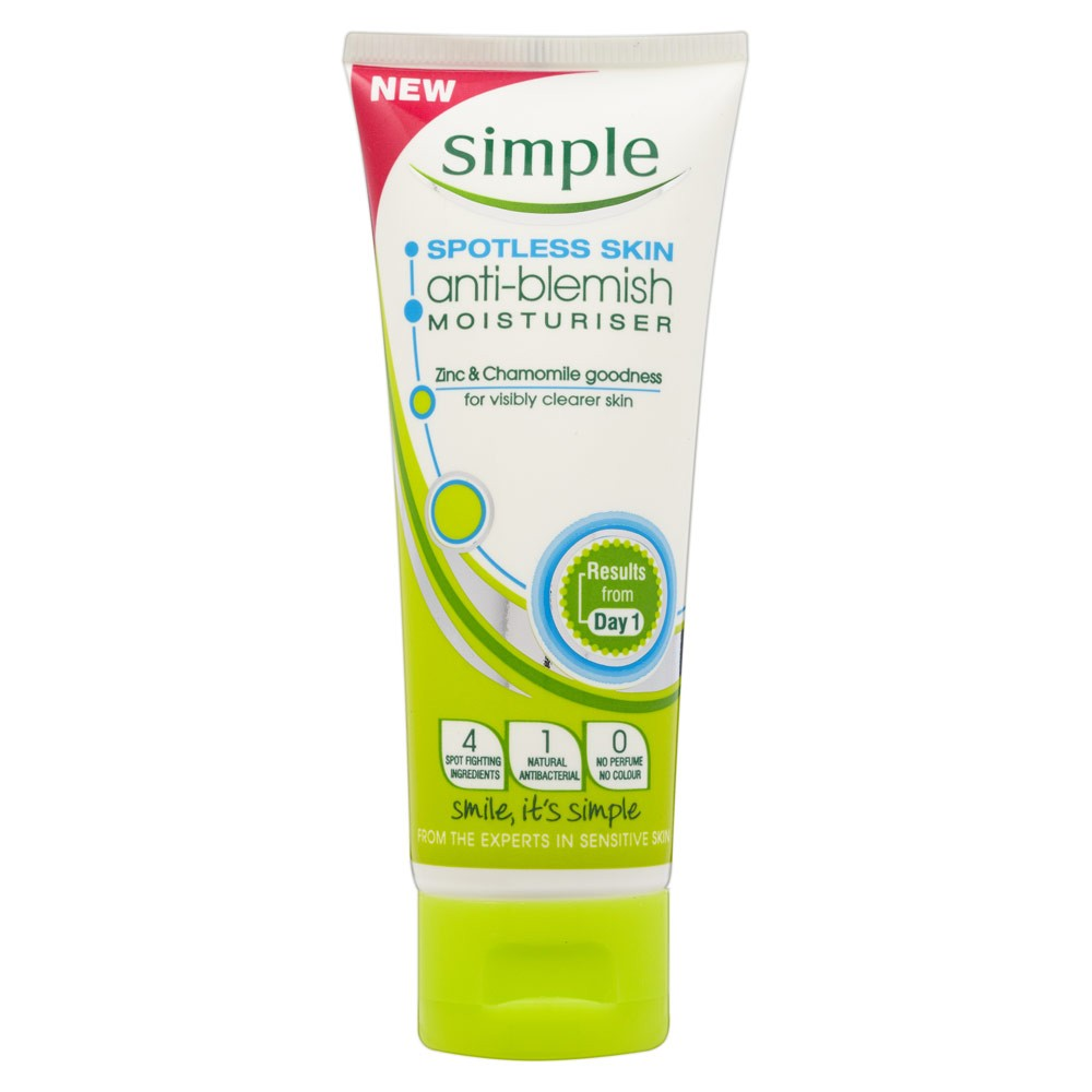 Simple Spotless Skin Anti-Blemish Moisturiser