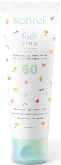 Sonrei Kids Zinq™ Mineral Gel Sunscreen SPF 60