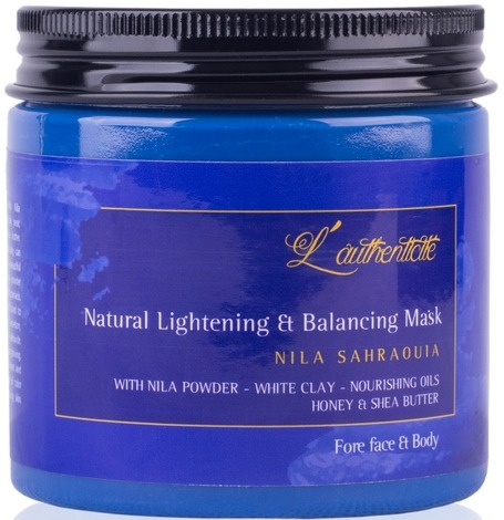 l-authenticite Moroccan Blue Nila Natural Lightening & Balancing Mask