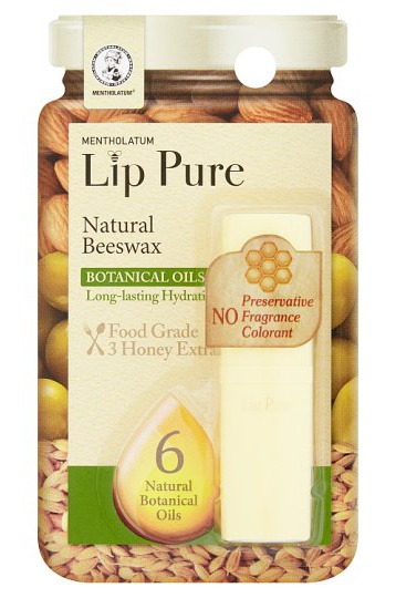 Mentholatum Lip Pure Natural Beeswax Botanical Oils
