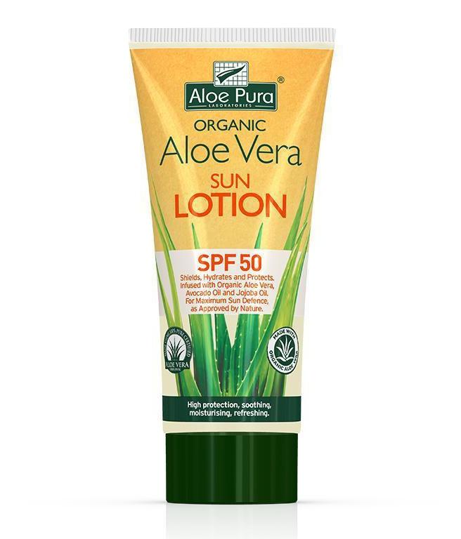 Aloe Pura Organic Aloe Vera Sun Lotion SPF50