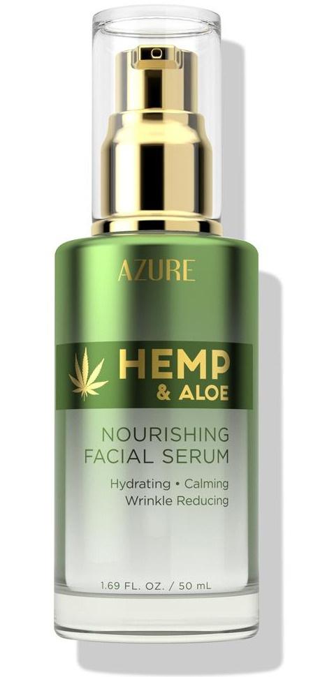 Azure Skincare Hemp & Aloe Nourishing Facial Serum